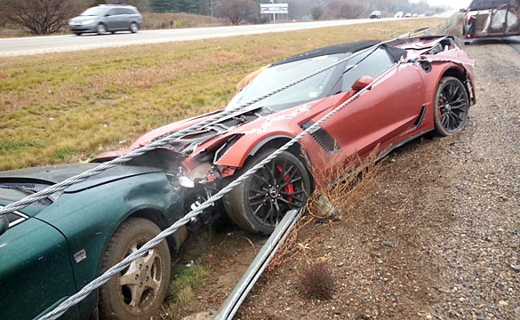 [ACCIDENT] 2015 Corvette Z06 Convertible Wrecks in the Rain in Michigan