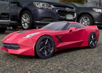 Get Crafty with a Papercraft Replica of the Corvette Stingray