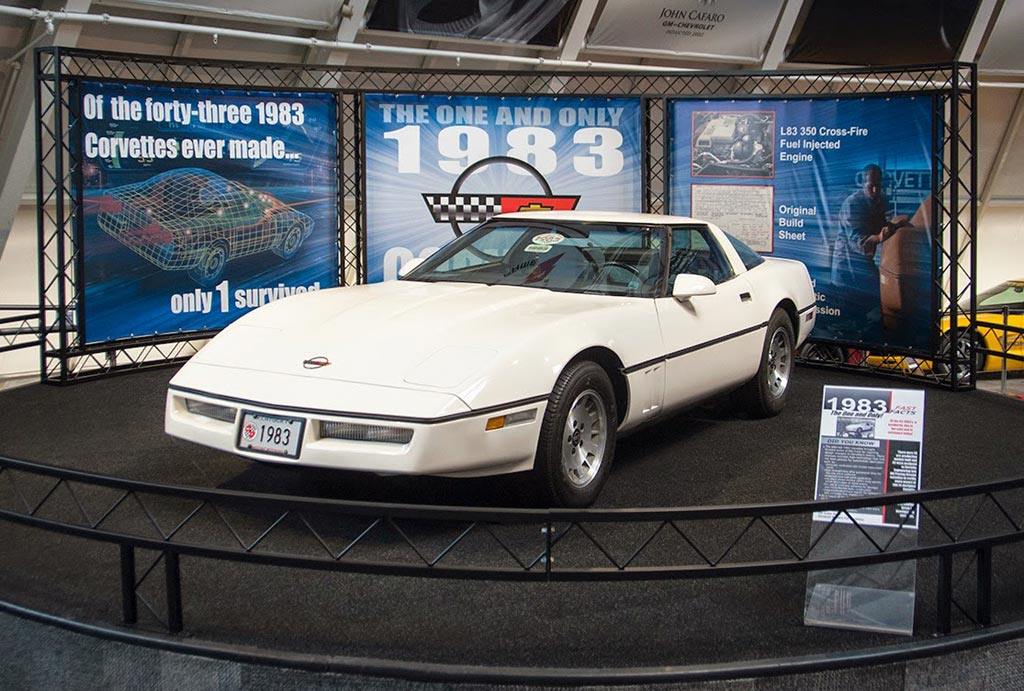 National Corvette Museum Creates New Display for World's Only 1983 Corvette