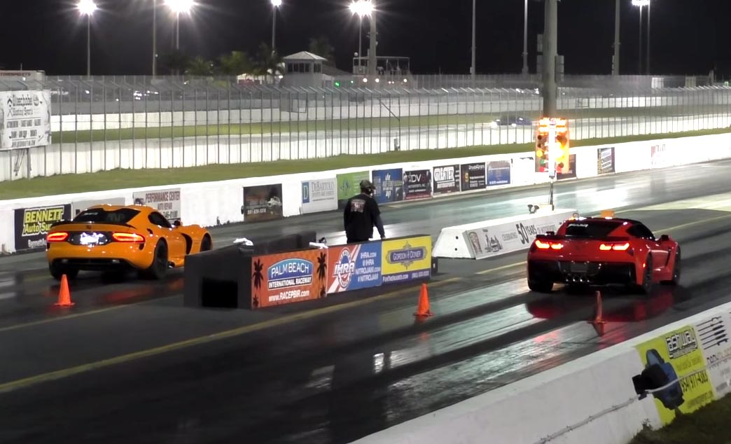 [VIDEO] 2015 Corvette Z06 vs 2014 SRT Viper TA at the Strip