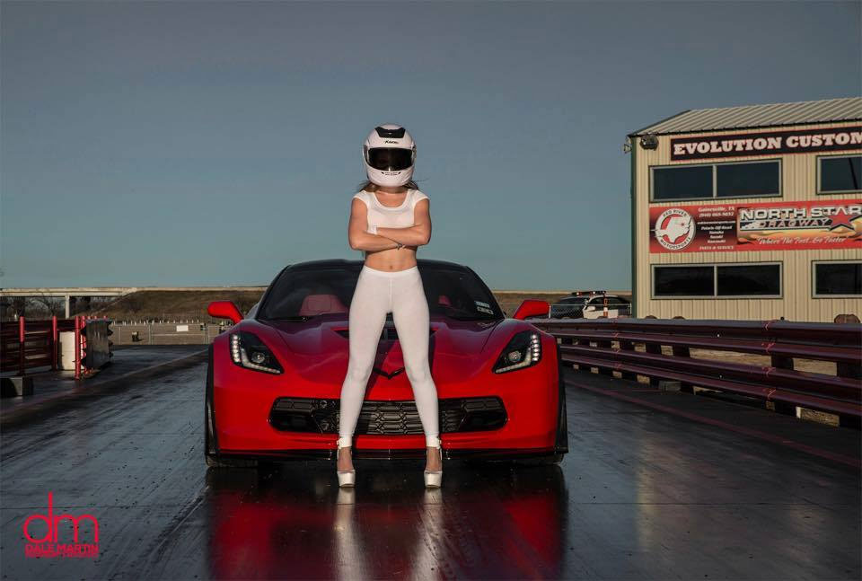 [PICS] The Stig's Wife and a 2015 Corvette Z06