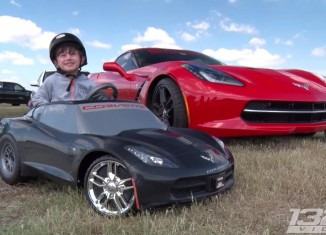 [VIDEO] Four Year Old is a Proud Corvette Stingray (Power Wheels) Owner