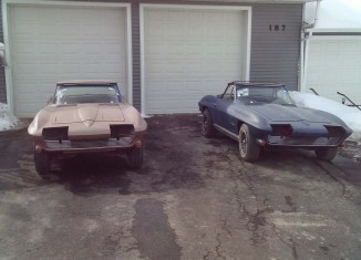 Corvettes on eBay: His and Hers 1964 Project Corvette Sting Rays