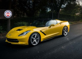 [PICS] C7 Corvette Stingray Rides on Classic Five-Spoke HRE Wheels
