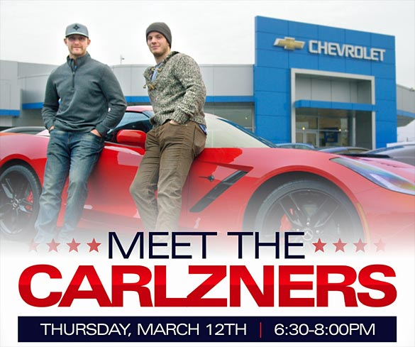 "[VIDEO] Sport Corvette is Hosting ""Meet the Carlzners"" on Thursday, March 12th"