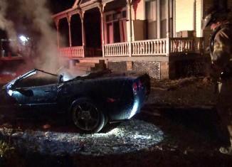 [VIDEO] C5 Corvette Torched in a Suspicious Fire in Arkansas