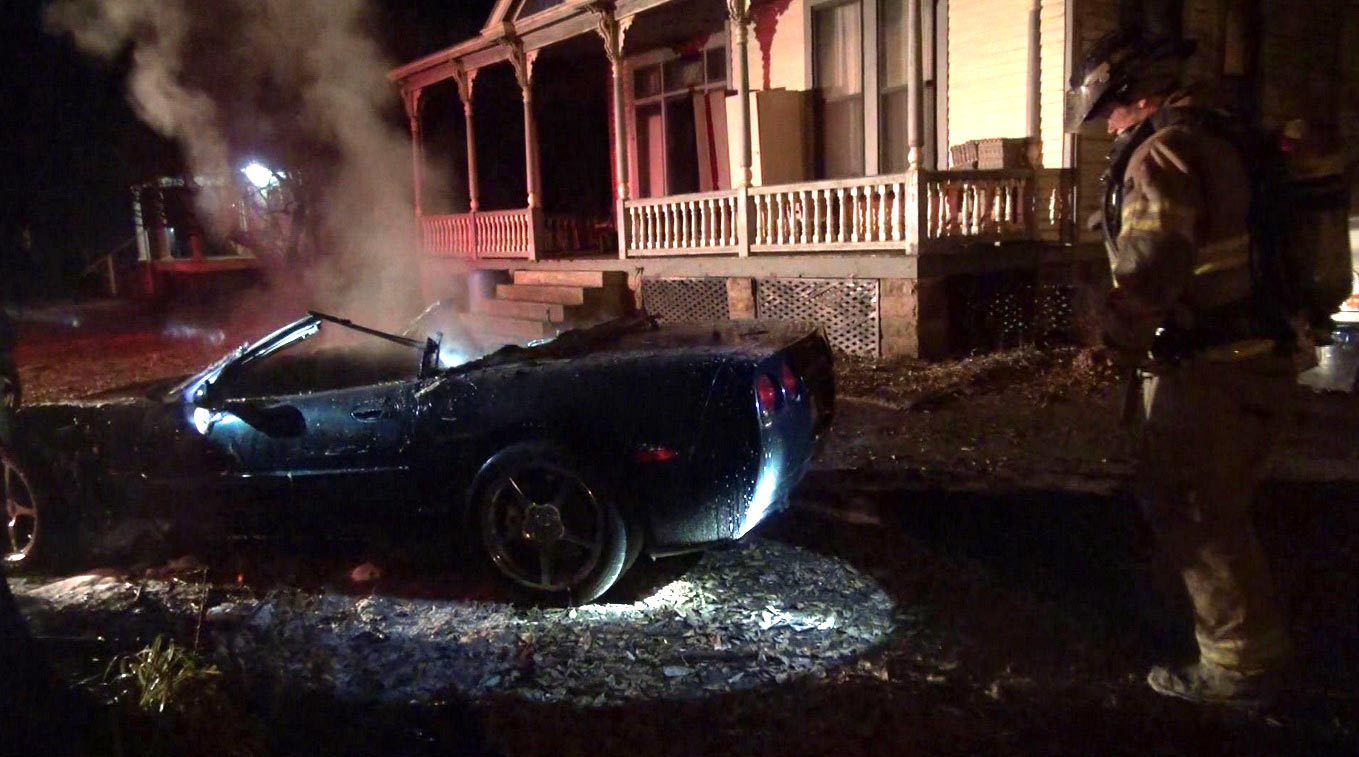 [VIDEO] C5 Corvette Torched in a Suspicious Fire in Arkansas