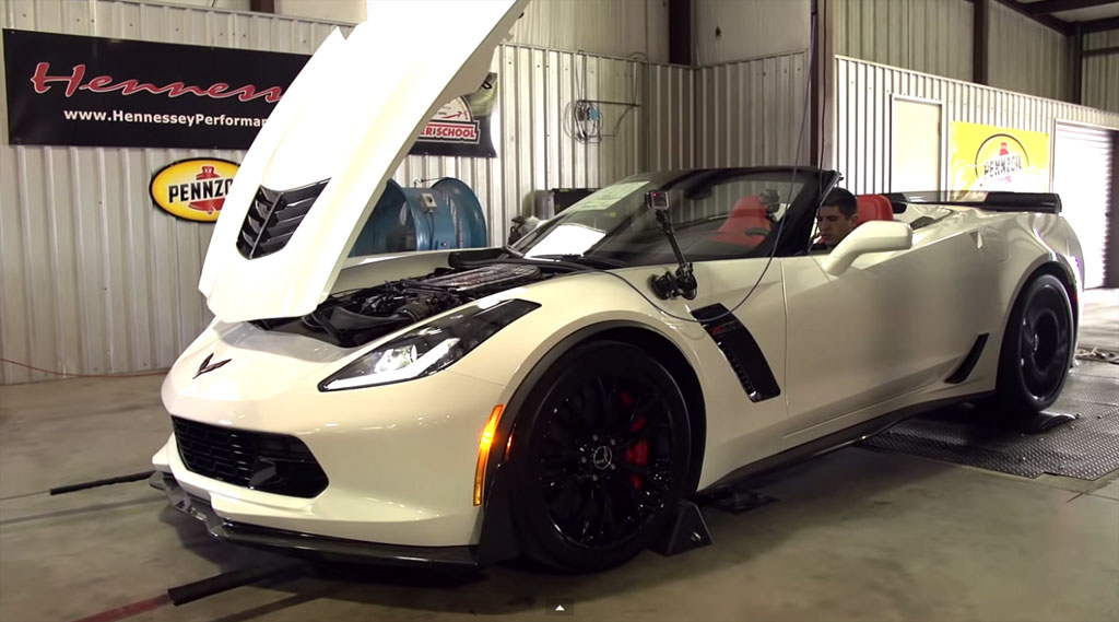 VIDEO] Hennessey Puts the 2015 Corvette Z06 with a 7-Speed Manual on the Dyno