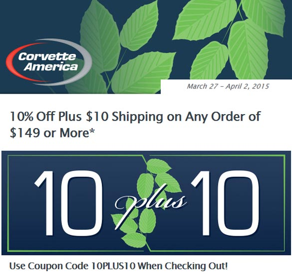 Spring It On with Corvette America's 10 Plus 10 Sale