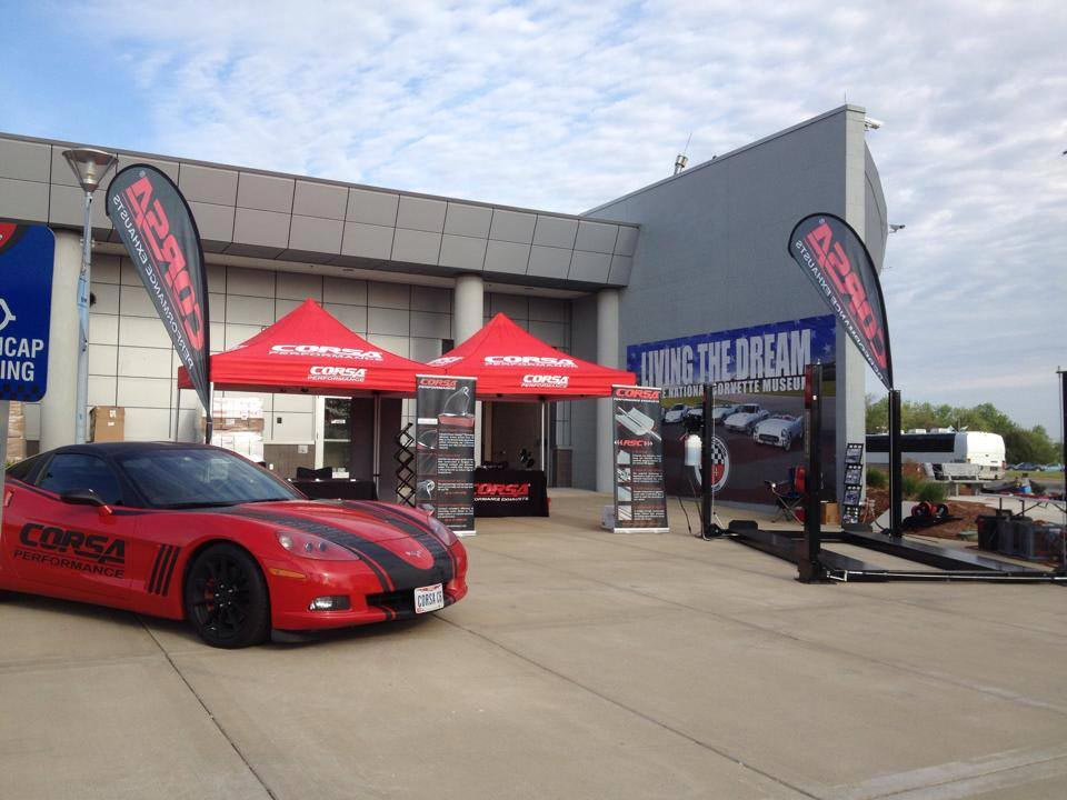 CORSA Exhaust Systems on Sale and Ready to be Installed at the Corvette Museum's Bash