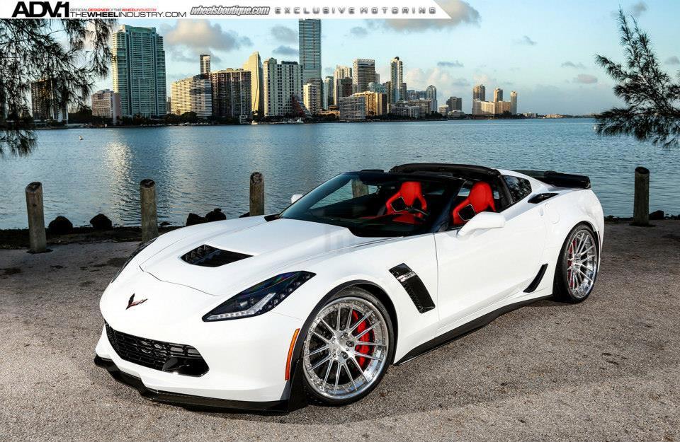 Corvette C6 For Sale >> [PICS] Shock and Awe: Arctic White Corvette Z06 on Polished Aluminum ADV.1 Wheels - Corvette ...