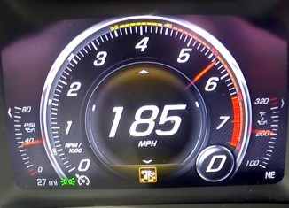 [VIDEO] Watch the Corvette Z06′s Fuel Gauge Drop During a 0-185 MPH Top Speed Run