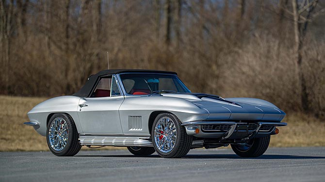 1967 Corvette Restomod with C7 Stingray's LT1 Engine will Star at Mecum's Indy Auction