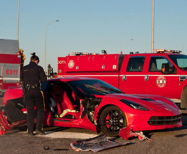 [ACCIDENT] C7 Corvette Stingray Has Passenger Door Knocked Off in Canada