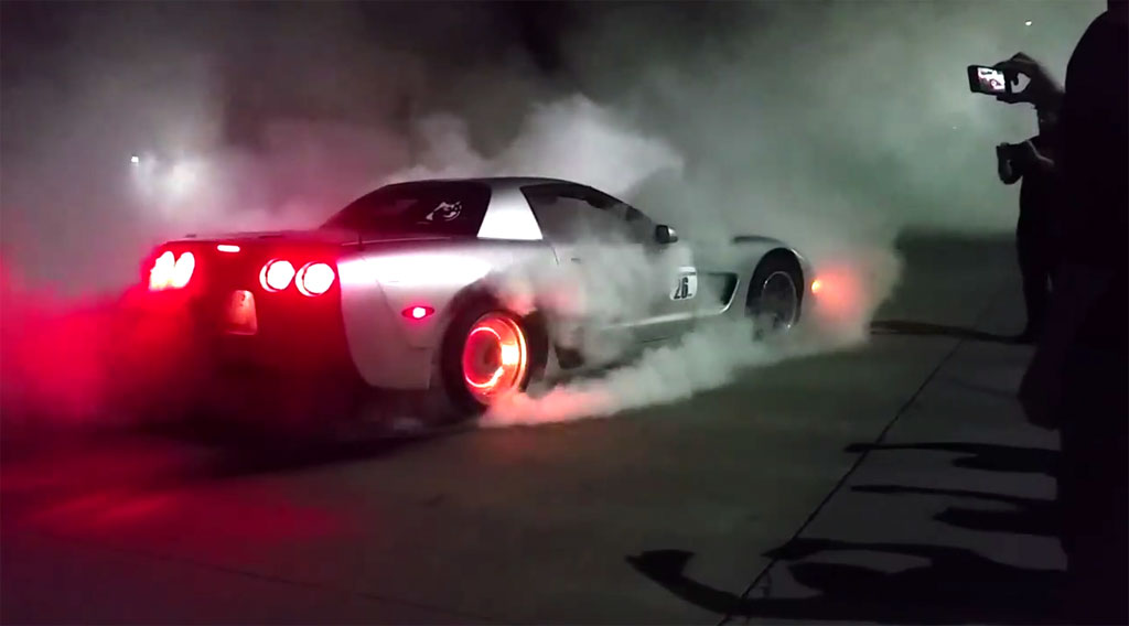 [VIDEO] Watch this C5 Corvette's Brakes Catch on Fire During Massive Burnout