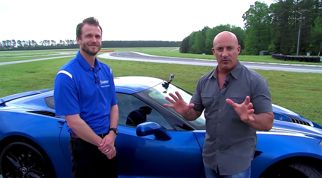 [VIDEO] Weather Channel's Jim Cantore Takes a Corvette Hot Lap on Michelin's Test Track