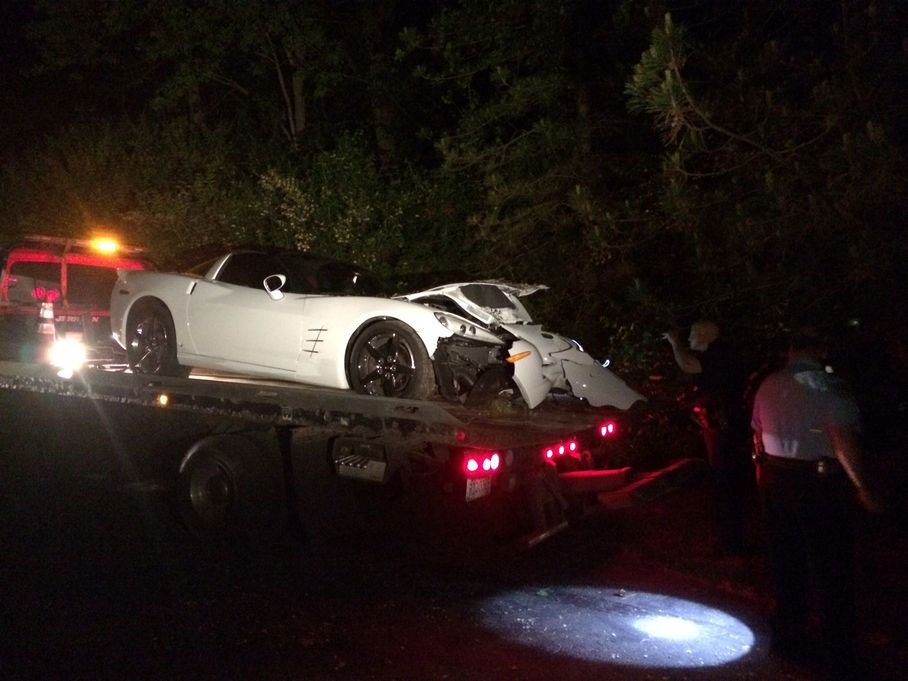 Suspected Drunk Driver in a C6 Corvettes Crashes Twice in Ohio