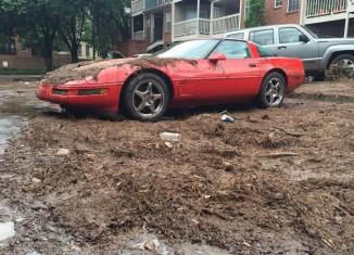 C4 Corvette Drowns in Atlanta Floods When Storm Drains Clog