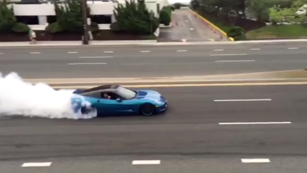 [VIDEO] Corvette Owner Charged After Donuts and Burnout were Captured on Video