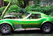 Corvettes on eBay: Wild 1971 Corvette with Psychedilic Paint Job