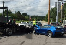 Driver Suffers Medical Seizure and Crashes into Two Corvette Z06s
