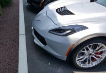 2016 Corvette's Front Facing Parking Assist Curb Camera in Action