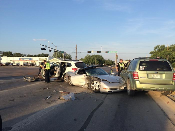 [ACCIDENT] Teenage C5 Corvette Driver Causes Three Car Crash in Texas