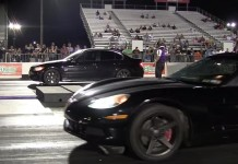 Girlfriend in Corvette Beats Her BMW-Driving Boyfriend at the Track
