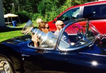 NHL's Stanley Cup Hits the Beach in a 1962 Corvette