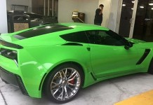 [PICS] C7 Corvette Z06 Is Repainted an Envious Green