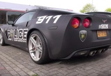 [VIDEO] Fake Corvette Z06 Police Car Goes on a Donut Run