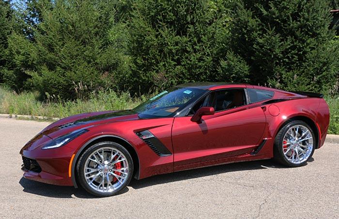 2016 Corvette Z06 in New Long Beach Red