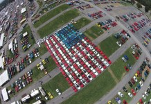 The Corvette American Flag Flies Again at Corvettes at Carlisle