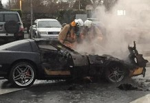 C4 Corvette Catches Fire in Australia