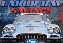 Get Free Shipping Over Labor Day Weekend with Corvette Central