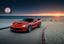 Daytona Orange Corvette Z06 Fitted with HRE's Brushed Titanium Wheels