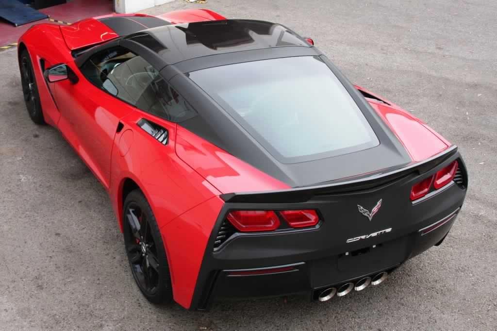Hot Or Not Matte Black Tailed C7 Corvette Stingray