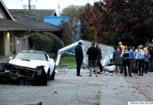 [ACCIDENT] C3 Corvette Driver Captured after Feeing Scene of Bus Stop Crash