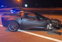C6 Corvette Rollover Crash Badly Injures Two in Ohio