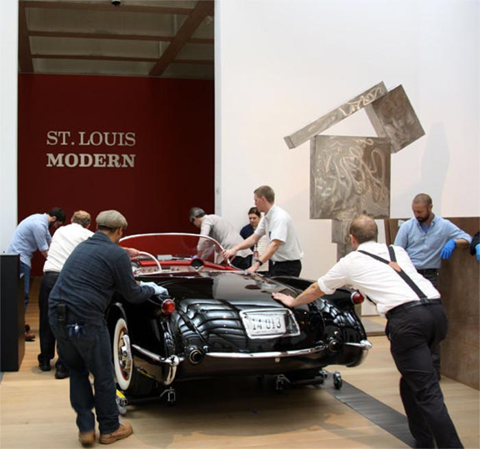 1954 Corvette to be Displayed Inside the St Louis Art Museum
