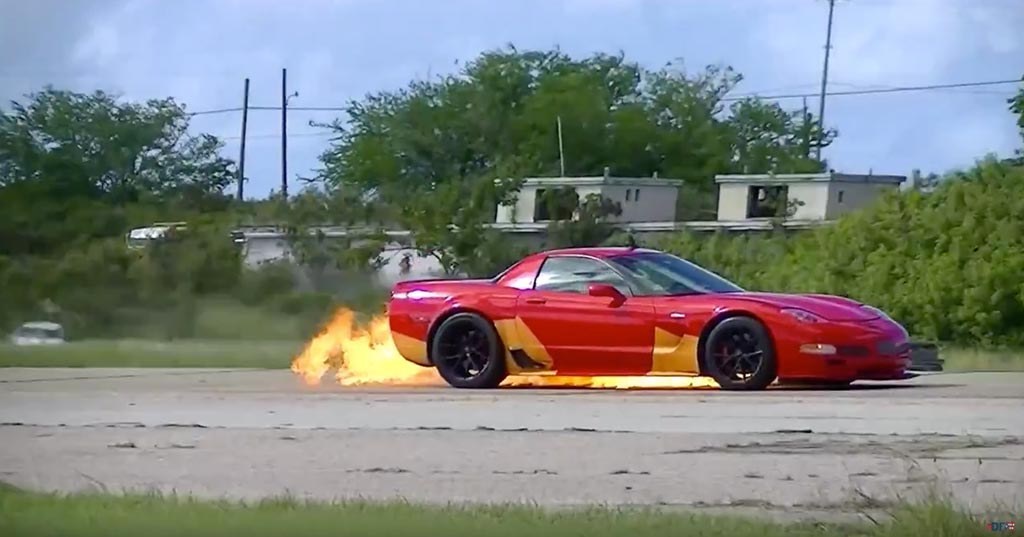 [VIDEO] C5 Corvette Z06 Catches on Fire while Running Puerto Rico Half Mile Event