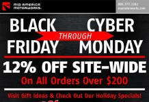 Big Savings For Cyber Monday at Mid America Motorworks