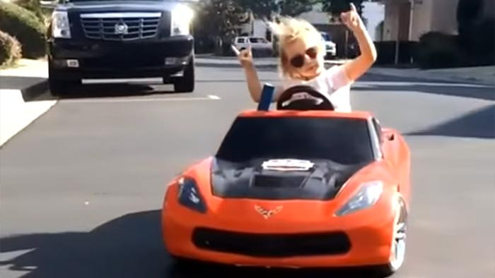 [VIDEO] Girl Slides a Power Wheels Corvette Right Into Our Hearts