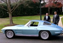 [VIDEO] President Obama and Jerry Seinfeld Drive a 1963 Corvette at the White House