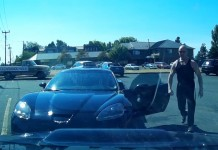 [VIDEO] Man Confronts Bad Corvette Driver and Instantly Regrets It