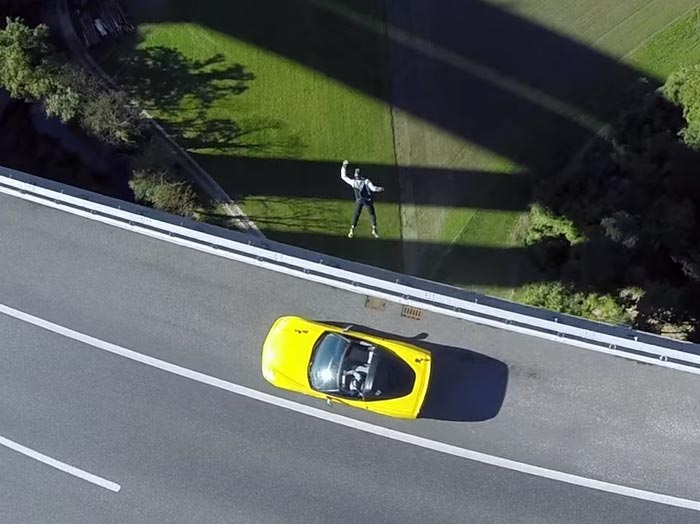 [VIDEO] C6 Corvette Featured in Official GoPro Base Jump Video