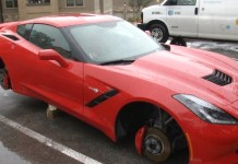[VIDEO] Corvette Stingray's Wheels Stolen in San Antonio