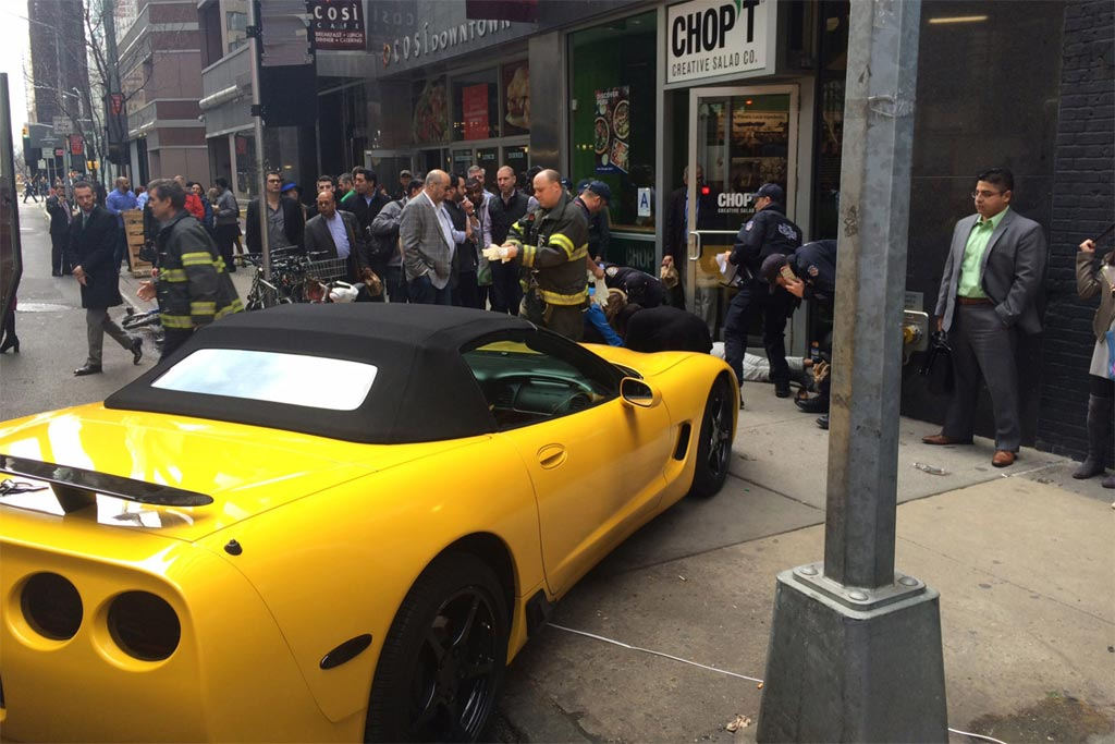 [ACCIDENT] Driverless Corvette Runs Over Woman on a Busy NYC Sidewalk