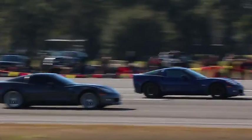 [VIDEO] Corvette vs Corvette Run the Half Mile at Ocala's WannaGoFast