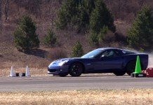 [VIDEO] 1,000 HP Corvette Z06 Catches Fire after 180 MPH Half Mile Run